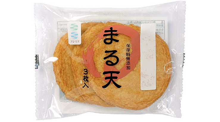 Deep fried maruten (round surimi)